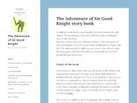 Sir Good Knight - Website design portfolio